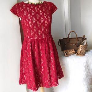 Kensie Red Lace Dress